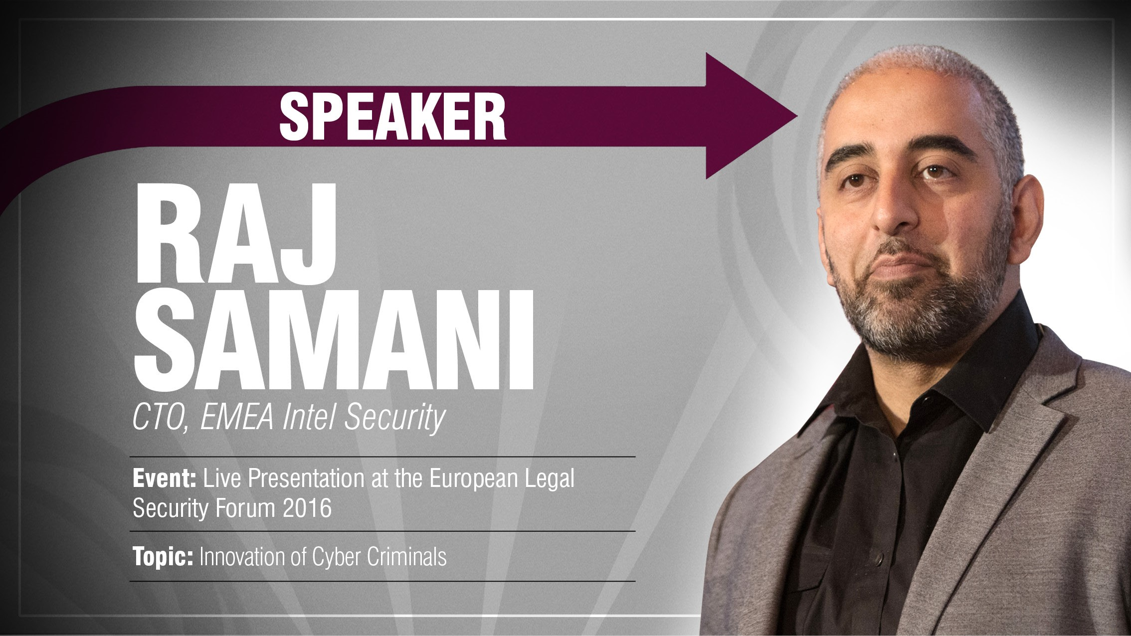 Raj Samani - European Legal Security Forum 2016 - Speaker - Podcast