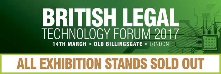British Legal Technology Forum 2017 - Sold out Exhibition Stands - Legal IT Event by Netlaw Media..